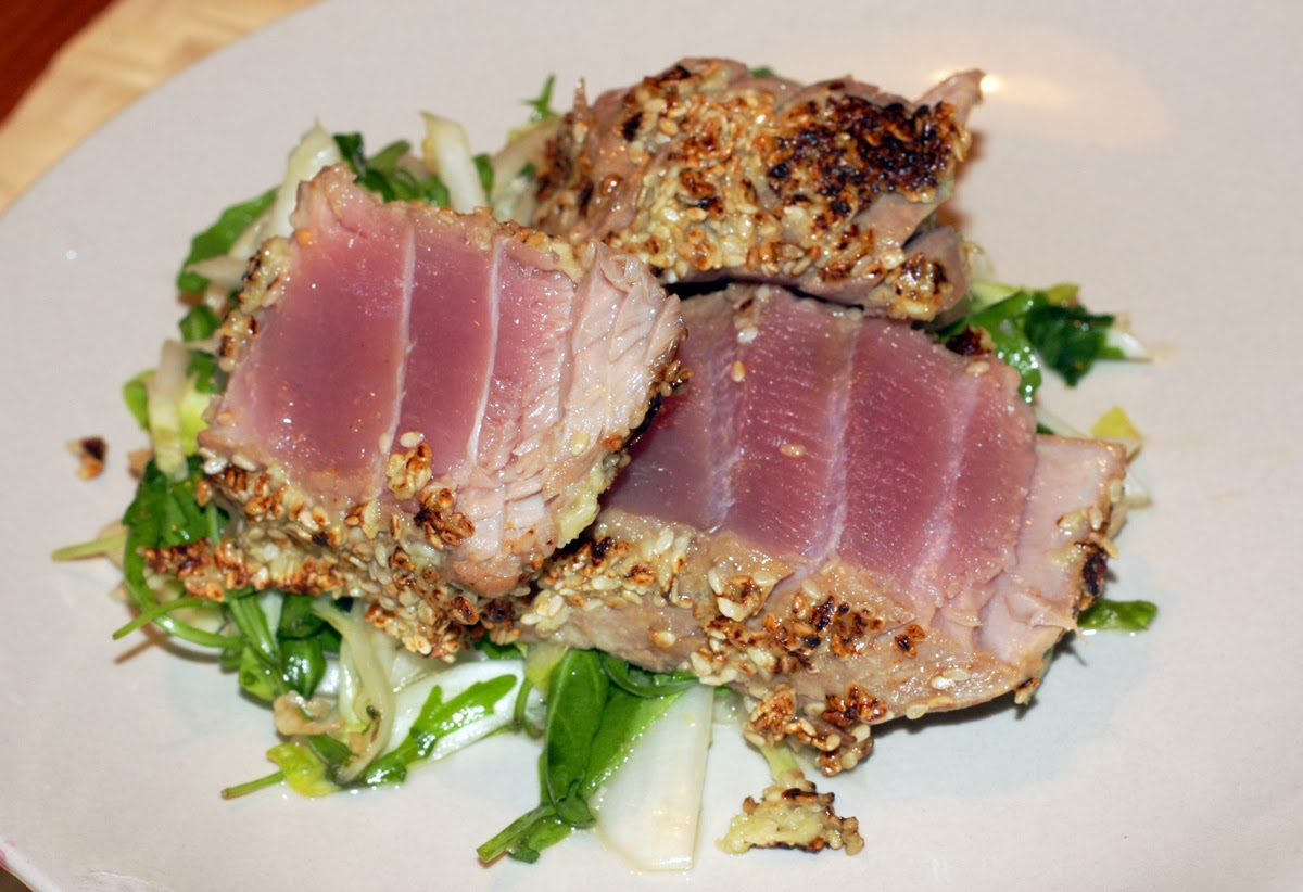 Sesame Crusted Ahi Tuna Steak Recipe — Dishmaps