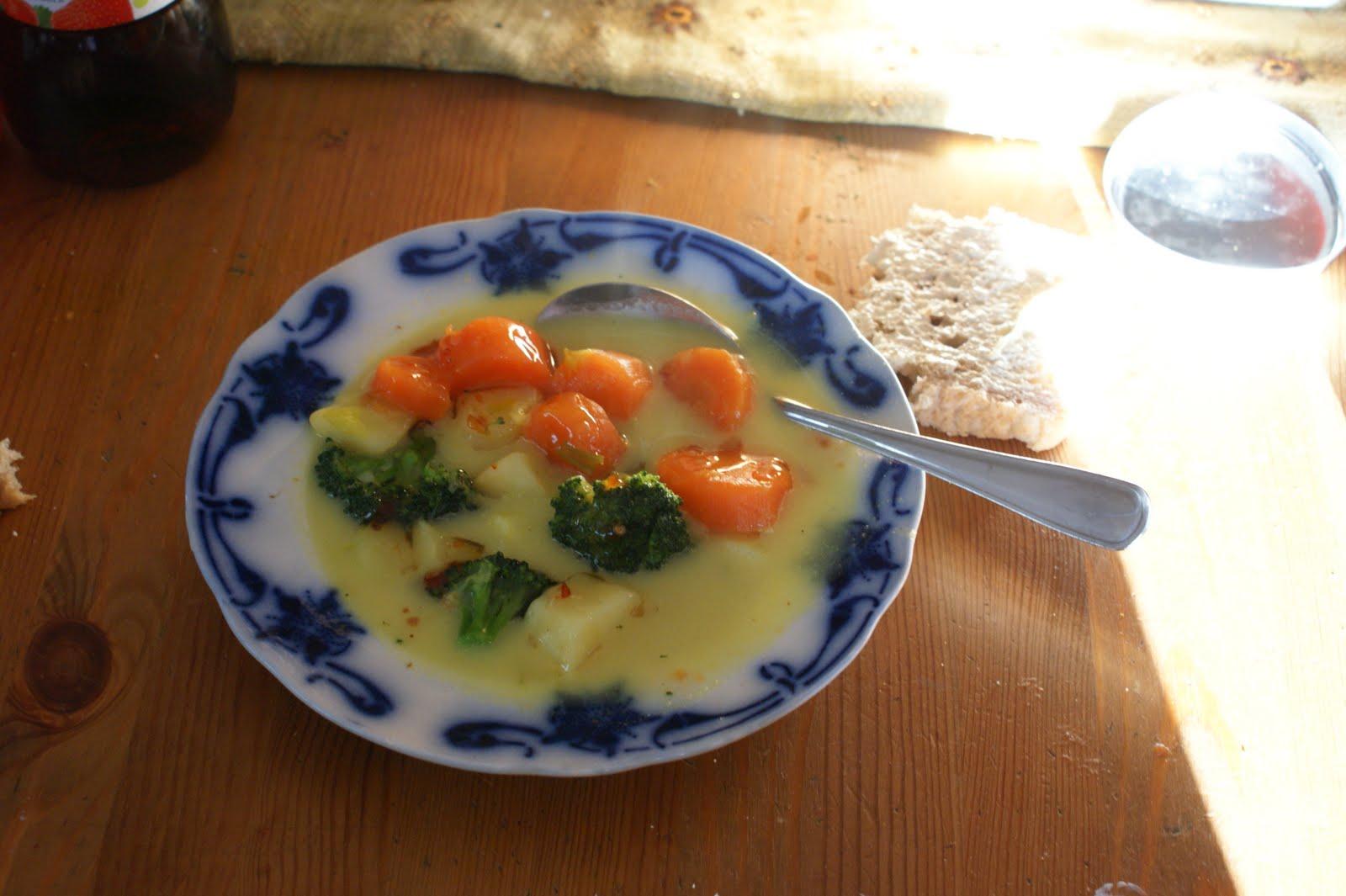 morot och broccolisoppa