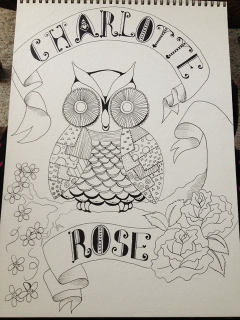 Charlotte Rose Owl step 3 more pen