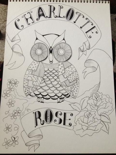 Charlotte Rose Owl step 3 more pen