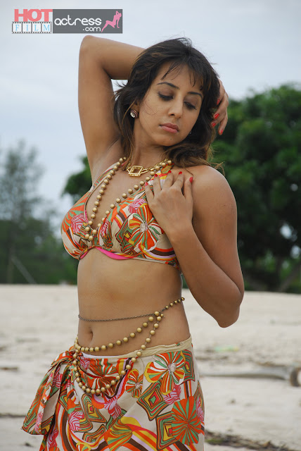 jvr 0787 Telugu Actress Sanjana Beach Hot Stills