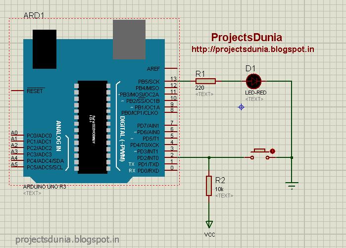 Interfacing push button switch to arduino projectsdunia