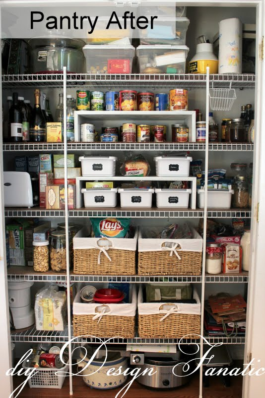 Diy design fanatic keep your pantry organized for Organizing your pantry shelves