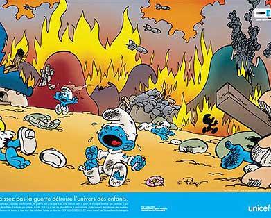 La Unicef Bombardeo Aldea Pitufa