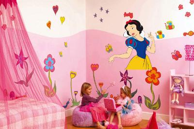 Decoraci n de interiores vinilos en la habitaci n de ni as for Decoracion de interiores para ninas