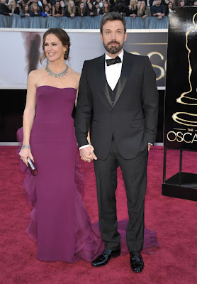 JENNIFER GARNER Y BEN AFFLECK RED CARPET OSCAR 2013