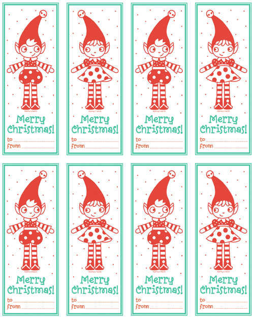 Christmas Bookmarks {Free Printables} Featured on Design Dazzle