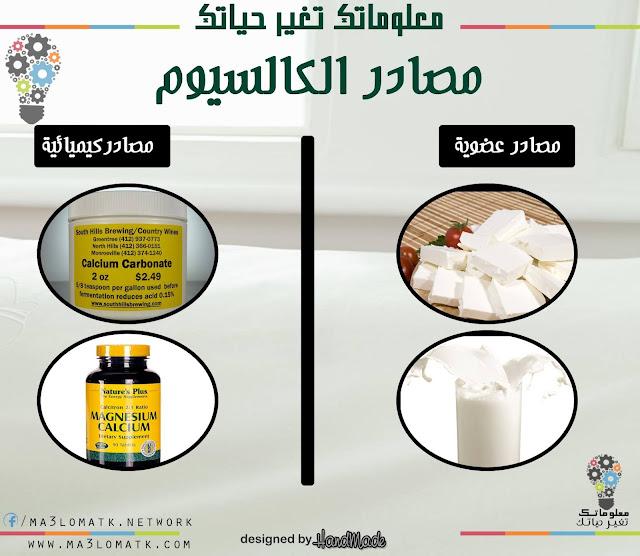 مصادر الكالسيوم