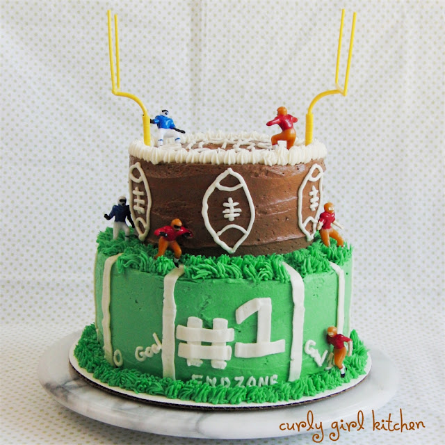 Curly Girl Kitchen: A Football Cake For Brooks' First Birthday