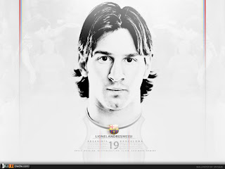 negative image of Lionel Messi