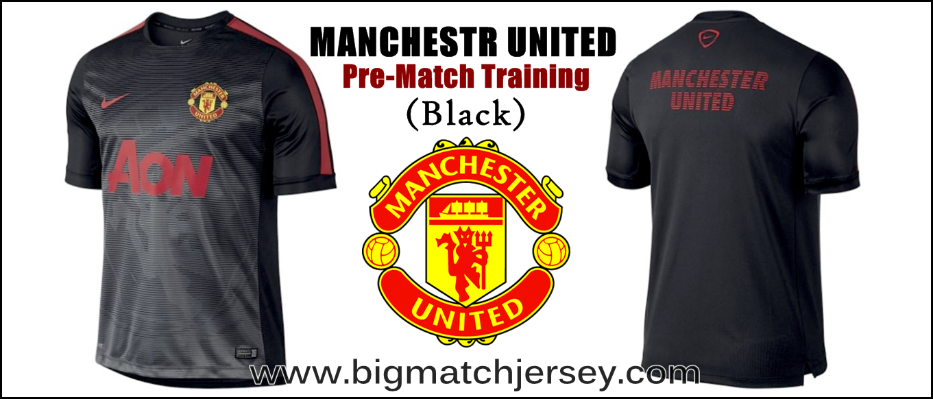 Manchester United Nike Squad Prematch Performance Top - Black 2015