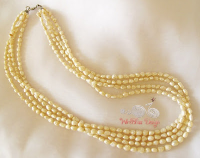 Multistrand Pearl Necklace by WireBliss
