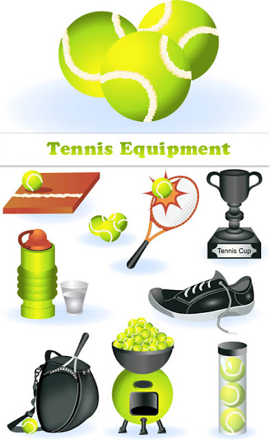 Tennis Equipment Icons