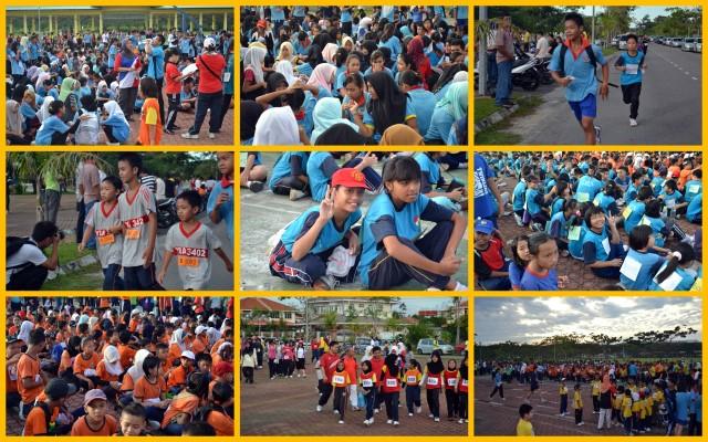 Larian Serentak 1Murid 1Sukan 1Malaysia  di Dataran Pehin Setia Raja, 02 Jul 2011.