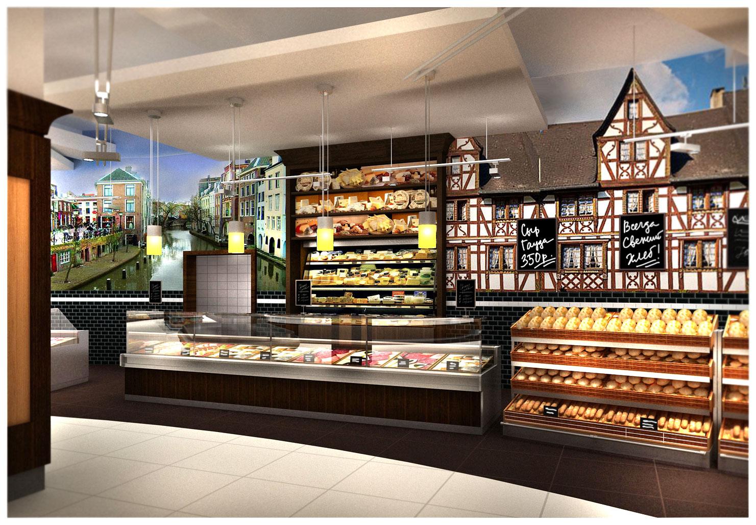 дизайн продуктового магазина фото