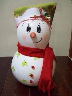 Boneco de neve de porongo