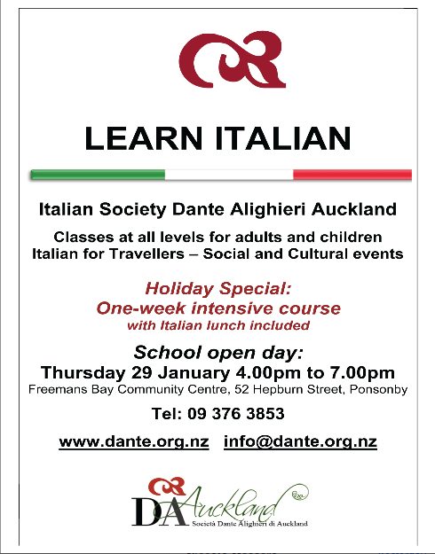 Italian Classes and School Open Day