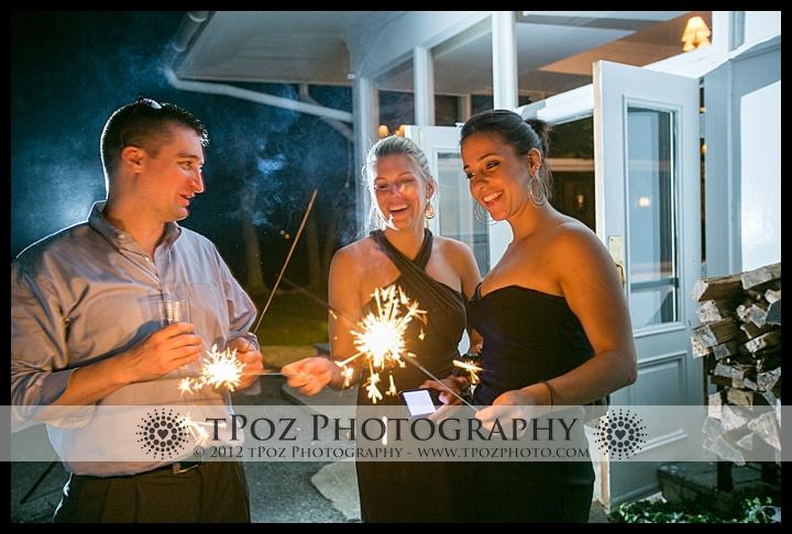 Gibson Island Club Wedding Sparkler Exit