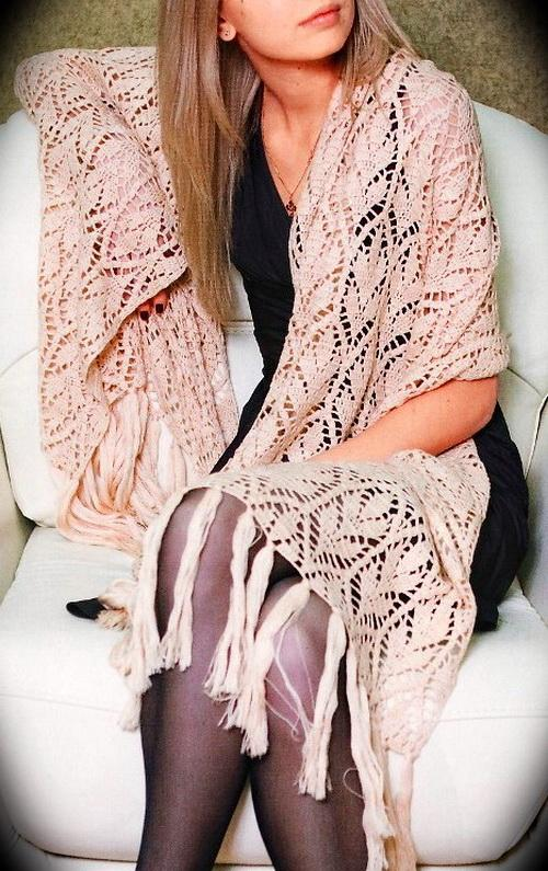 Stylish Easy Crochet Crochet Shawl Wrap Pattern Free