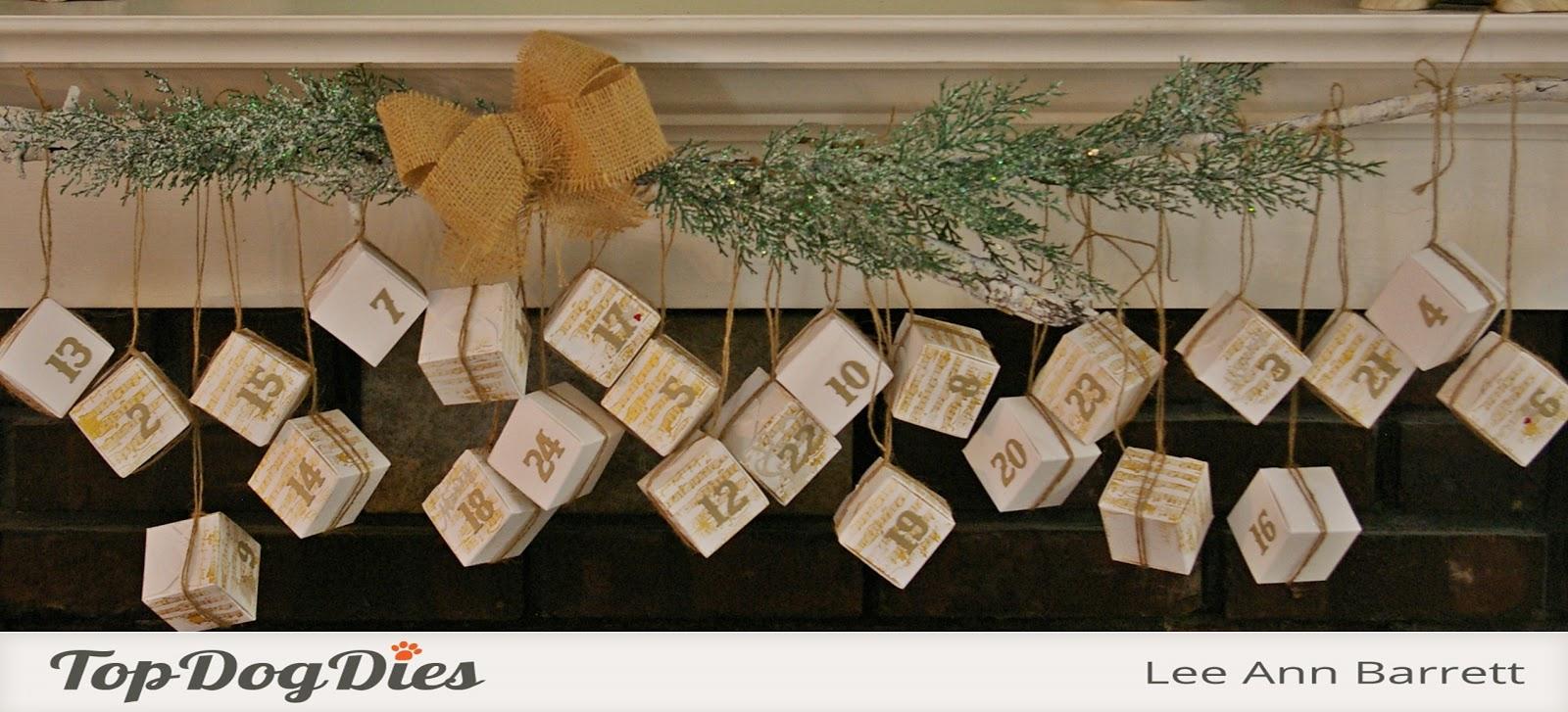 greyt paper crafts an advent calendar with top dog dies