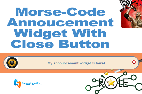 morse code annoucment widget