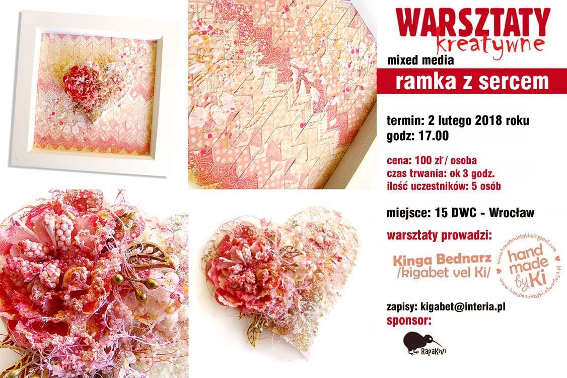 WARSZTATY 15 DWC - ramka z sercem