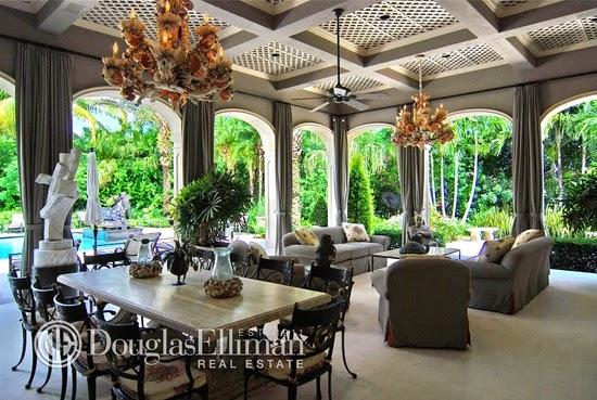 Eileen 39 s home design french regency estate for sale for 10 500 000 in boca raton fl for Living room theater boca raton