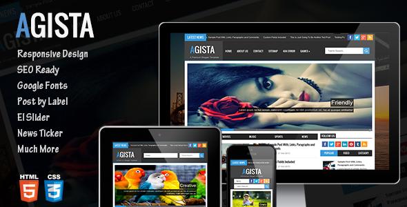 Download Free Agista Themeforest Responsive Multipurpose Blogger Template theme