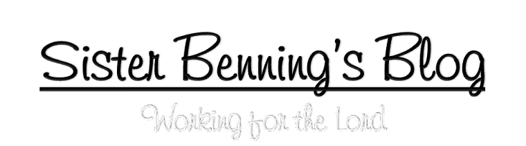 Sister Benning's Blog