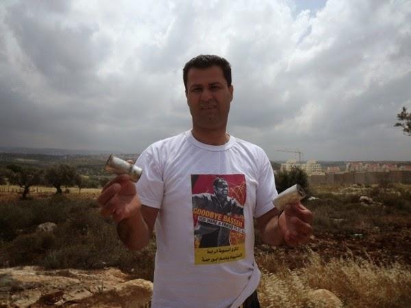 Abdallah Abu Rahma, coordenador da luta popular da vila da Bil'in