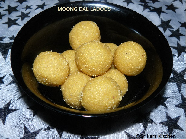 MOONG DAL LADOOS- NEI URUNDAI-PAYATHAM PARUPPU LADDU- {METHOD 2}
