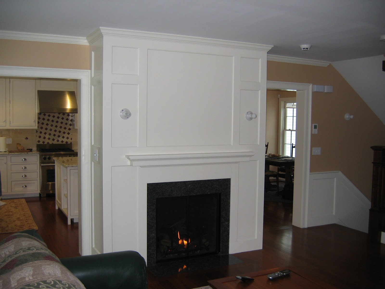 condon and fox project pages amherst village fireplace and paneling