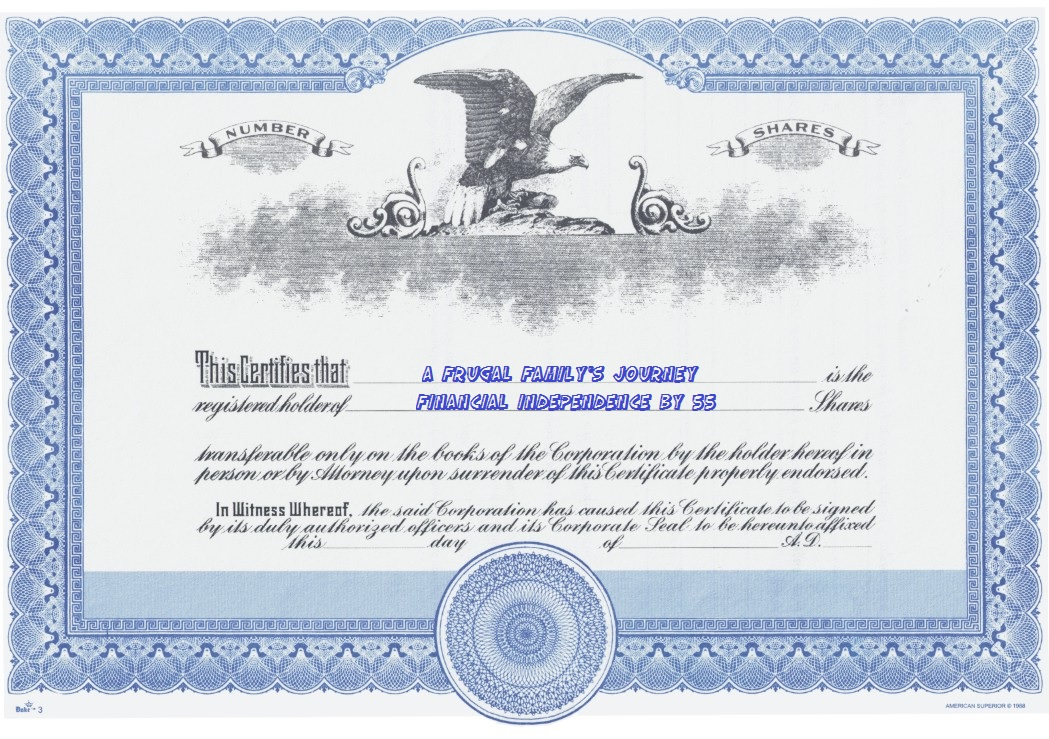 A Frugal Familys Journey Stocks Added To Collection Of Stock - S corporation stock certificate template