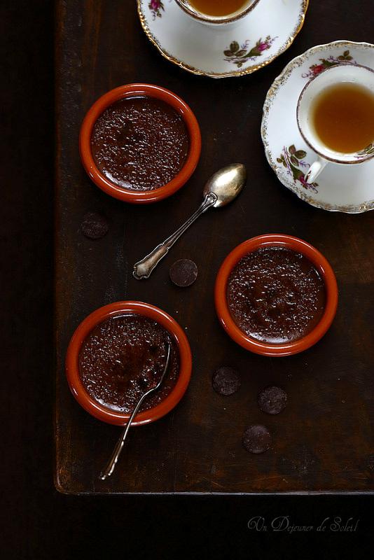 Crème brûlée au chocolat inspirée de Pierre Hermé