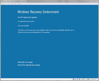 Windows 8 error 0xc0000260