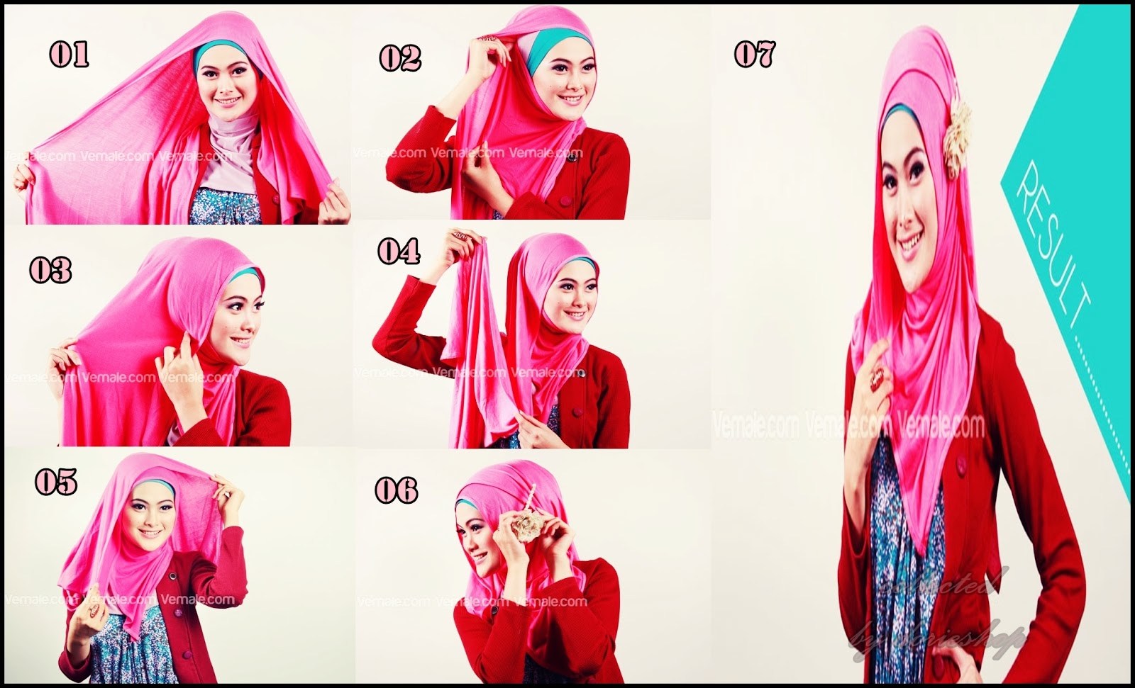 Tutorial Hijab Pashmina Kaos Hijab Lovers