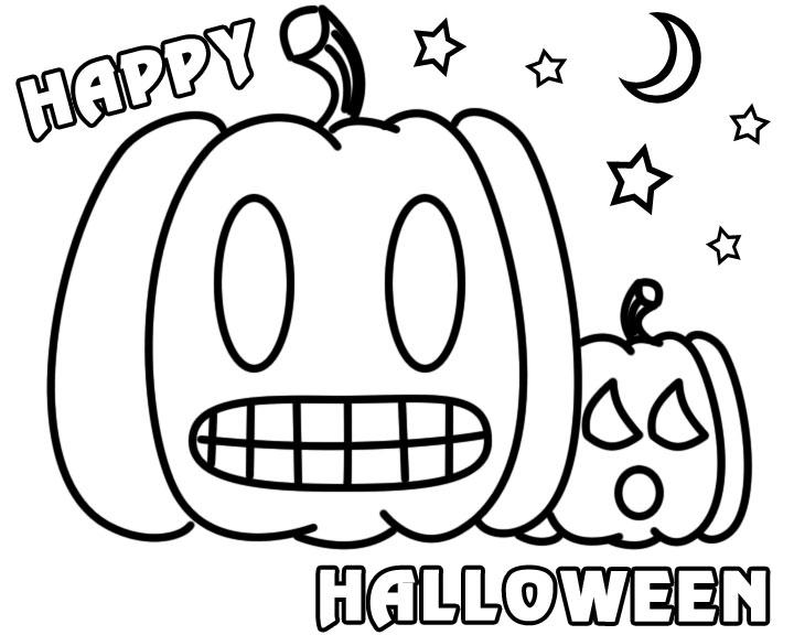 Banco de Imagenes y fotos gratis: Dibujos de Halloween para Pintar 1