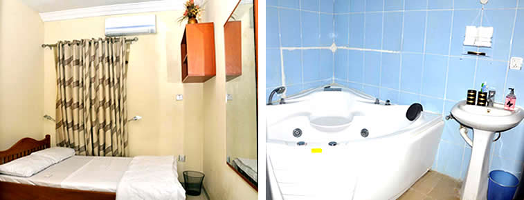 House 8 Apartment room and bathtub