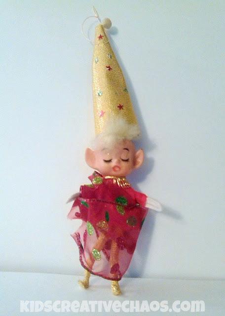Vintage Elf on the Shelf Ornament