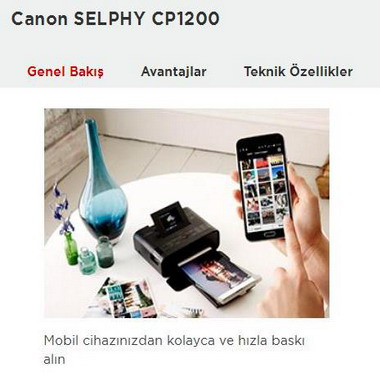 canon - selphy cp1200 - kompakt fotoğraf yazıcıları