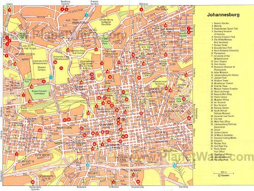 Mapa de Joanesburgo
