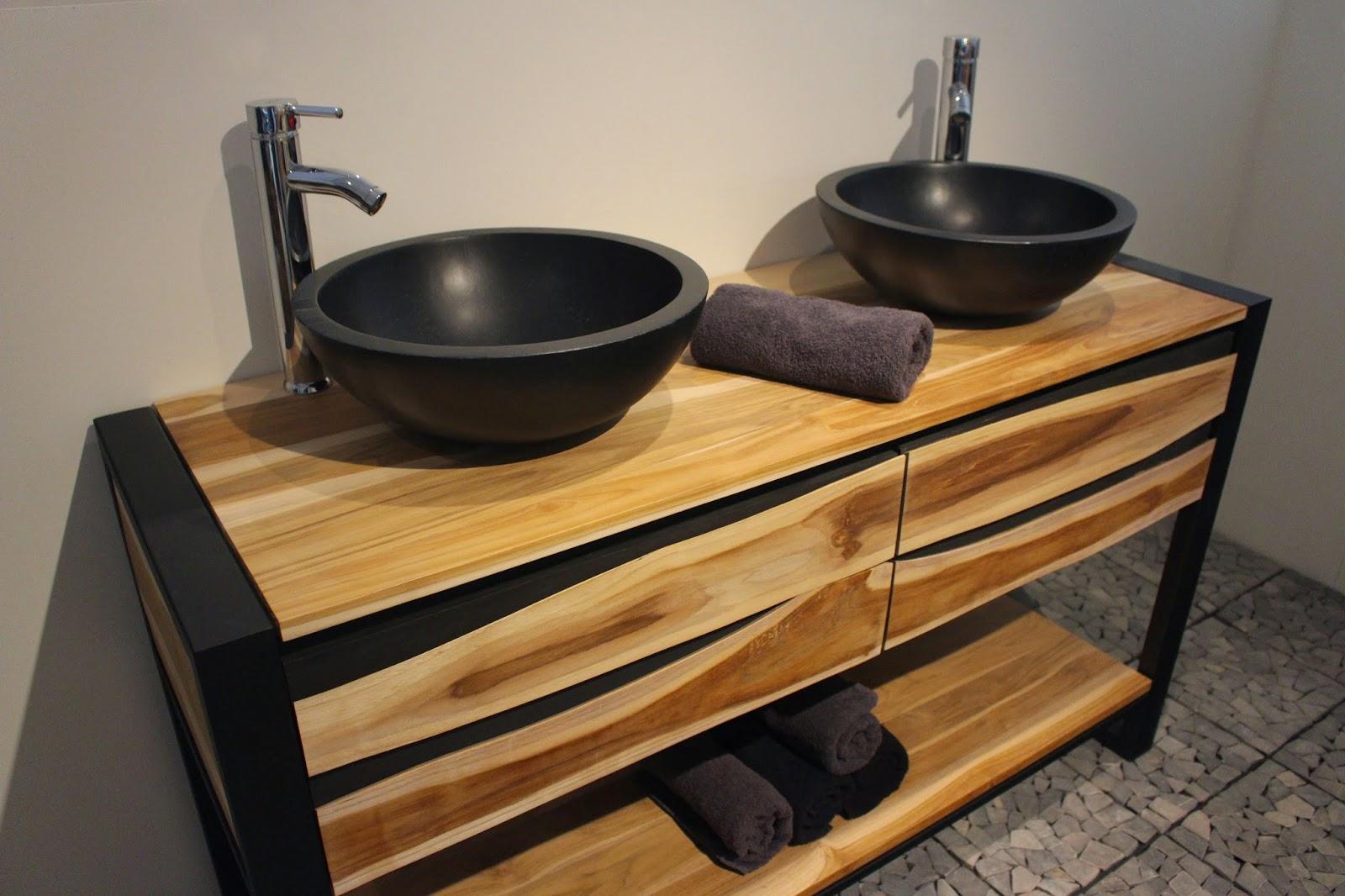 Houten badkamermeubels nieuw design uit teakhout. badkamermeubel
