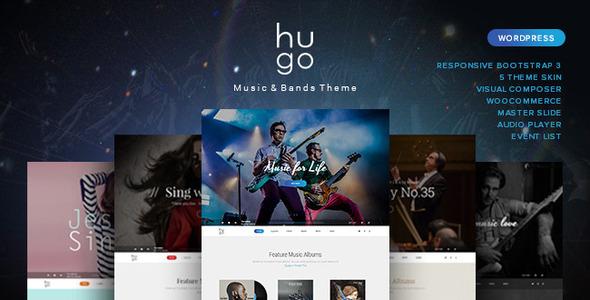 download Hugo - Music / Artist / Singers / Bands Wordpress