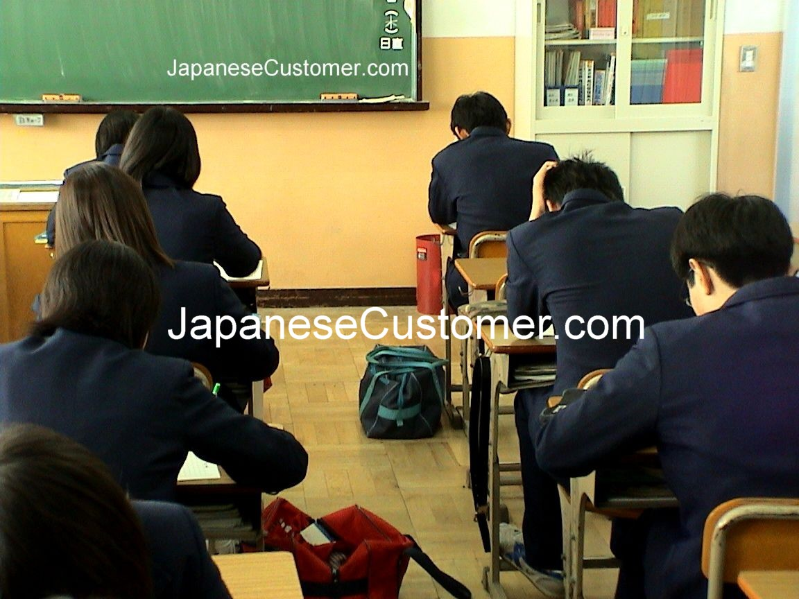 Japanese school students Copyright Peter Hanami 2014