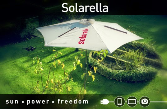 Solar Powered Umbrella Charges your Gadgets,Inhabitat ,Sustainable Design Innovation, Eco Architecture, Green Building,solar power,sun energy,renewable energy,free powe