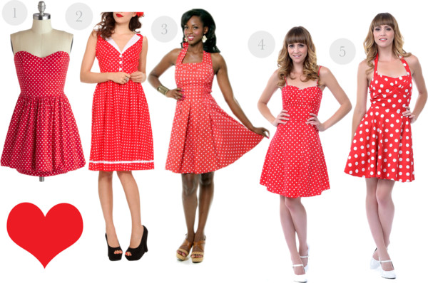 red and white polka dot dress wish list, modcloth.com, Unique Vintage, Hot Topic, vintage style, retro style, retro fashion, pin up, 1950s, 50s