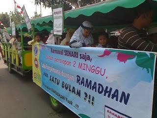 Indahnya Pawai Tarhib Ramadhan Bersama Murid KB-TK
