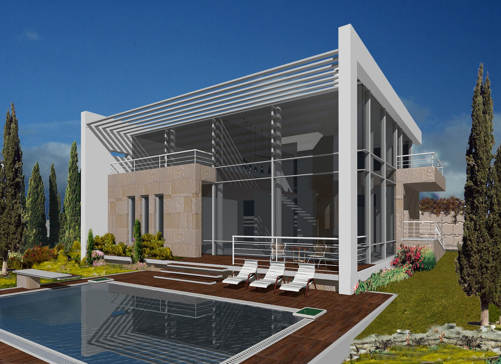 Beautiful modern homes latest mediterranean homes exterior designs home decorating Stunning modern home exterior designs