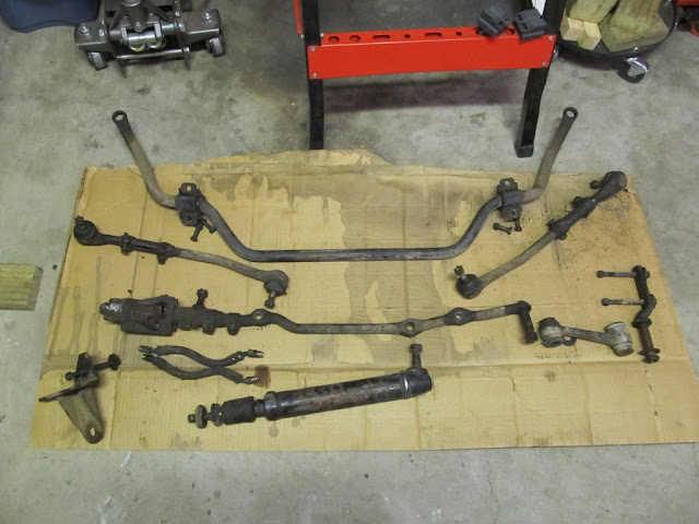 67 Mustang stock power steering linkage