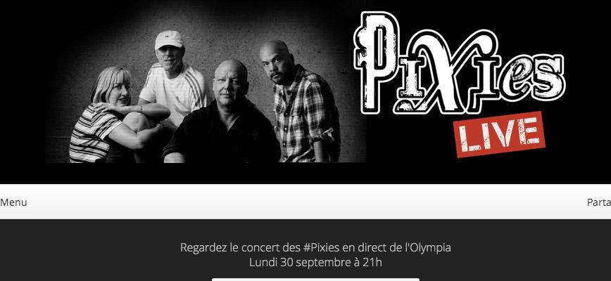 mercadeo pop pixies emiten este lunes un concierto desde par s en streaming. Black Bedroom Furniture Sets. Home Design Ideas